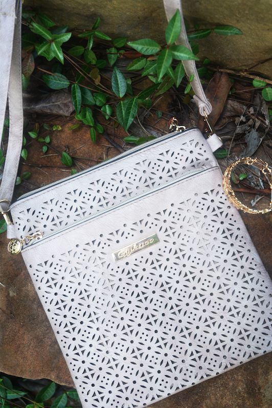 Cut-Out Crossbody Bag // Classy and Kate